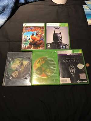 5 Xbox games 2 Star Wars games, Batman ,Skyrim and banjo kazoo is for Sale in Mentor, OH