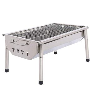 Fold Portable Barbecue Charcoal Grill Stove Stainless Steel Outdoor BBQ Picnic for Sale in New York, NY