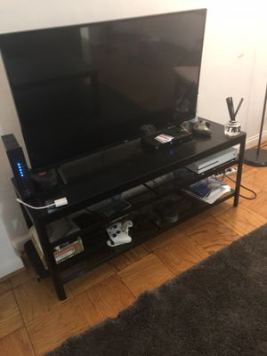 MUST GO: TV Console Table/Stand - black metal for Sale in Washington, DC