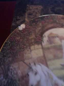 The enchanted world of the unicorn plate collection Thumbnail