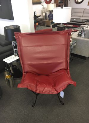 Red leather chair for Sale in Lincolnia, VA