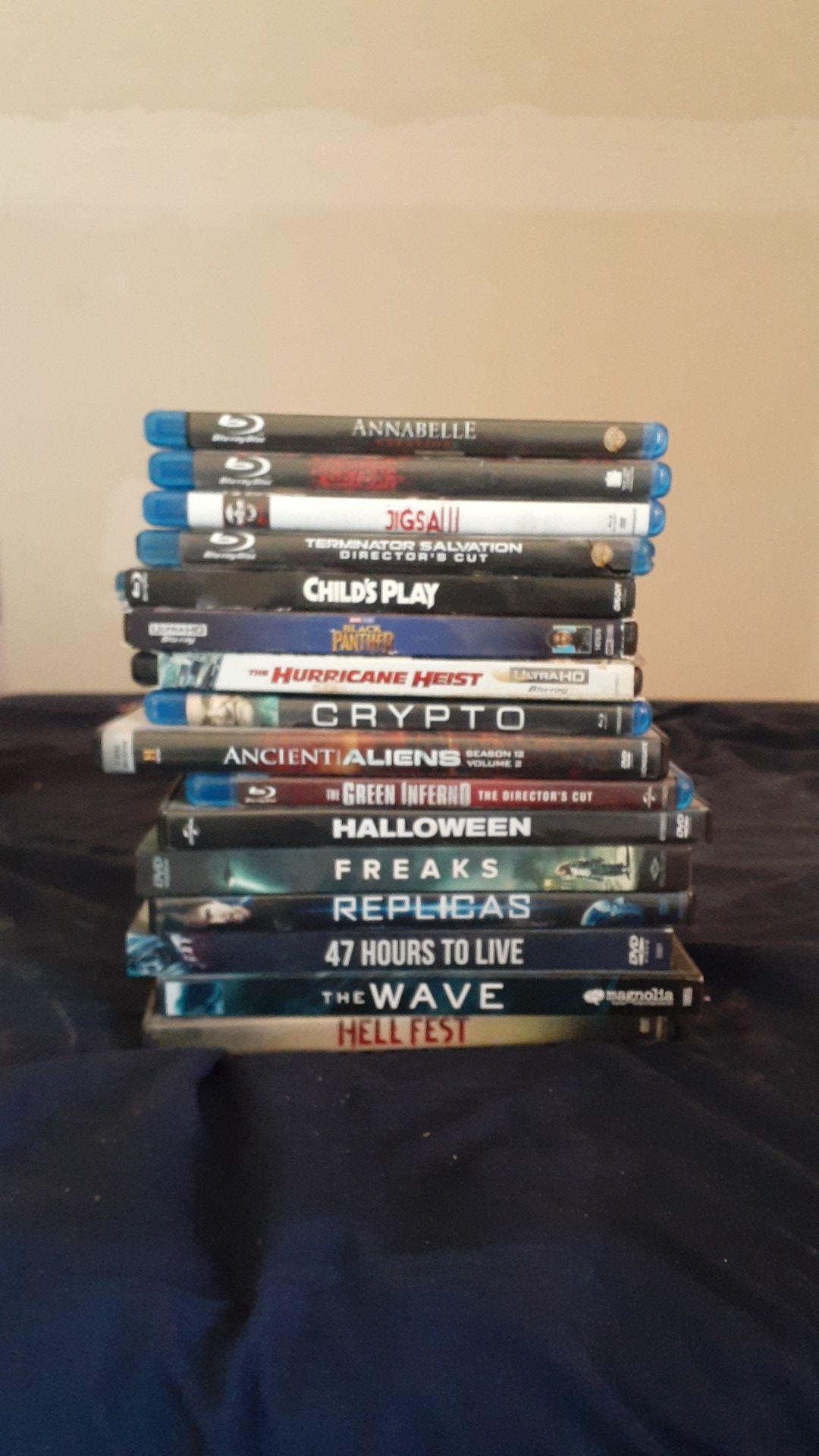 DVD blu ray 4k movies
