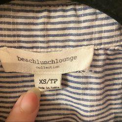 Beach Lunch Lounge Pinstripe Button Down Shirt Thumbnail