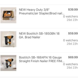 Bostitch Nail Guns + Pneumatic Stapler for Sale in Clermont, FL