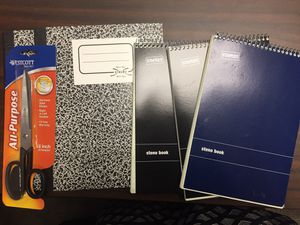 Notebooks and scissors for Sale in Germantown, MD