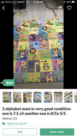 2 alphabet mats in very good condition ine is 7,5x5 another one is 8.5x5.5 Thumbnail