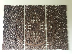 Beautiful Abacus Wood Wall Art 3-piece set Contemporary Design — $175 for Sale in Washington, DC