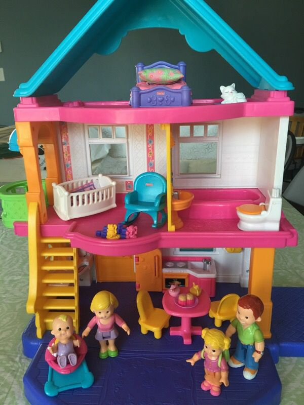 Fisher Price My First Dollhouse With Accessories For Sale In