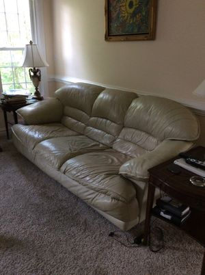 Leather sofa couch for Sale in Chesterfield, VA