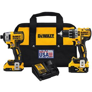 DEWALT 20-Volt MAX XR Lithium-Ion Cordless Drill/Driver and Impact Combo Kit (2-Tool) with 2Ah and 4Ah Batteries for Sale in Silver Spring, MD