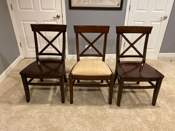 Pottery Barn Aaron Dining Chairs Set Of 3 For Sale In