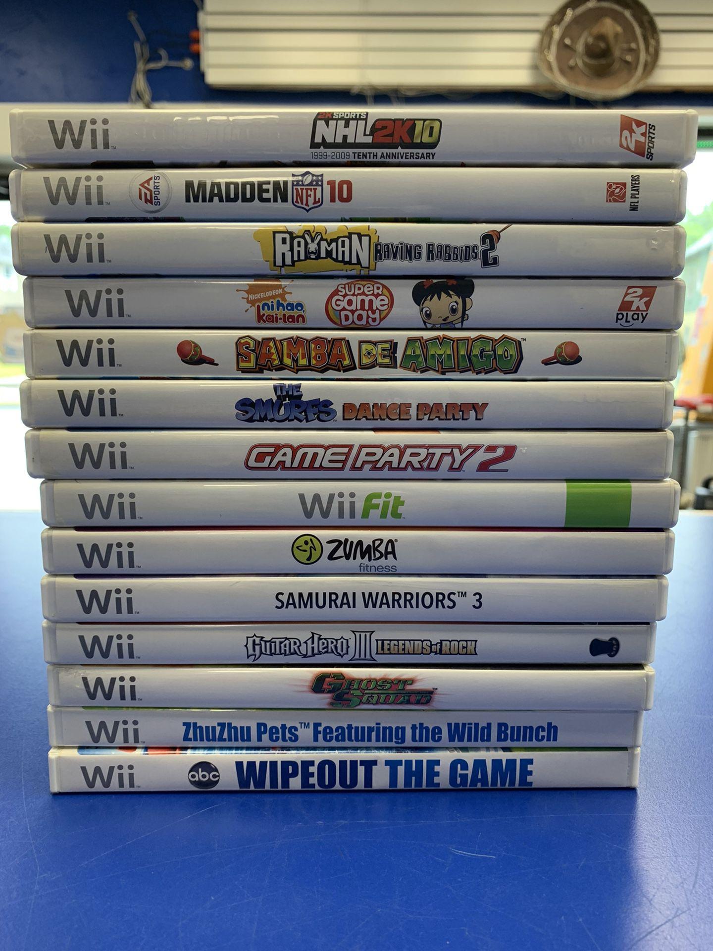 Nintendo Wii Game Bundle  W/15 Games