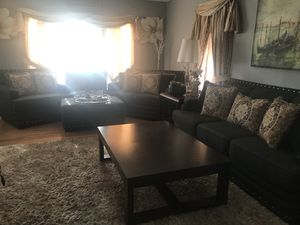 Complete living room set Sofa/Loveseat/Chair/Storage Ottoman for Sale in Pawtucket, RI