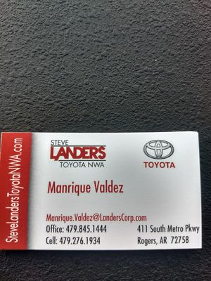 Manrique At Steve Landers Toyota For In Rogers Ar
