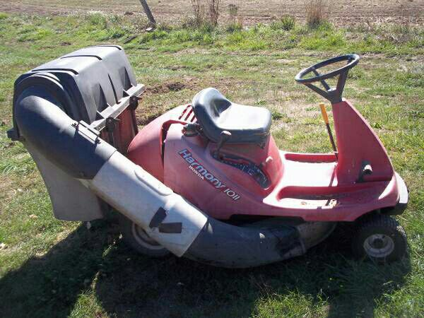 Honda Harmony Riding Lawn Mower with Bagger -$499 (FREE ...