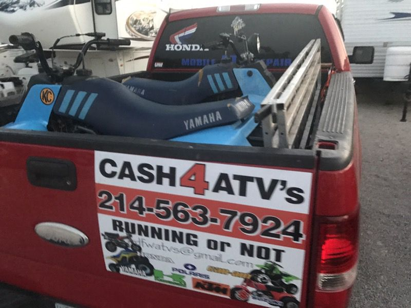 Cash4atvs 4 wheelers etc.