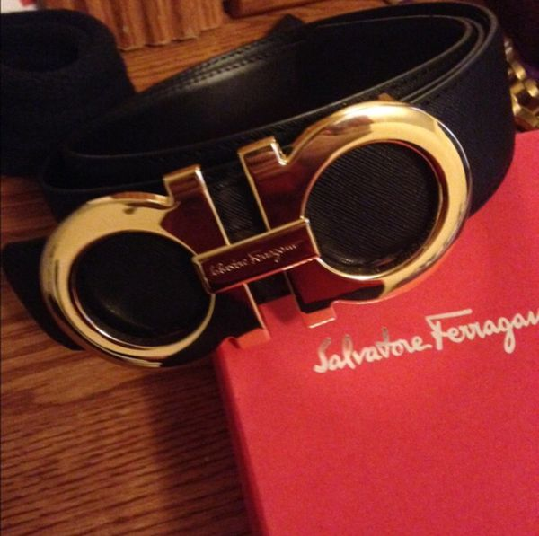 How To Tell If A Ferragamo Belt Is Real >> Italy Authentic Ferragamo Belt 58539 C6099