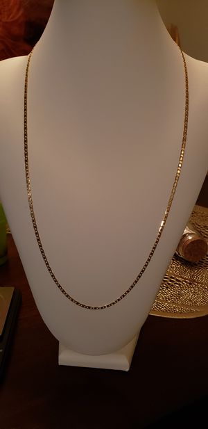 """18k Solid Gold Mariner Link Chain 26"""" /7.84g/ 2.65mm thick for Sale in Orlando, FL"""