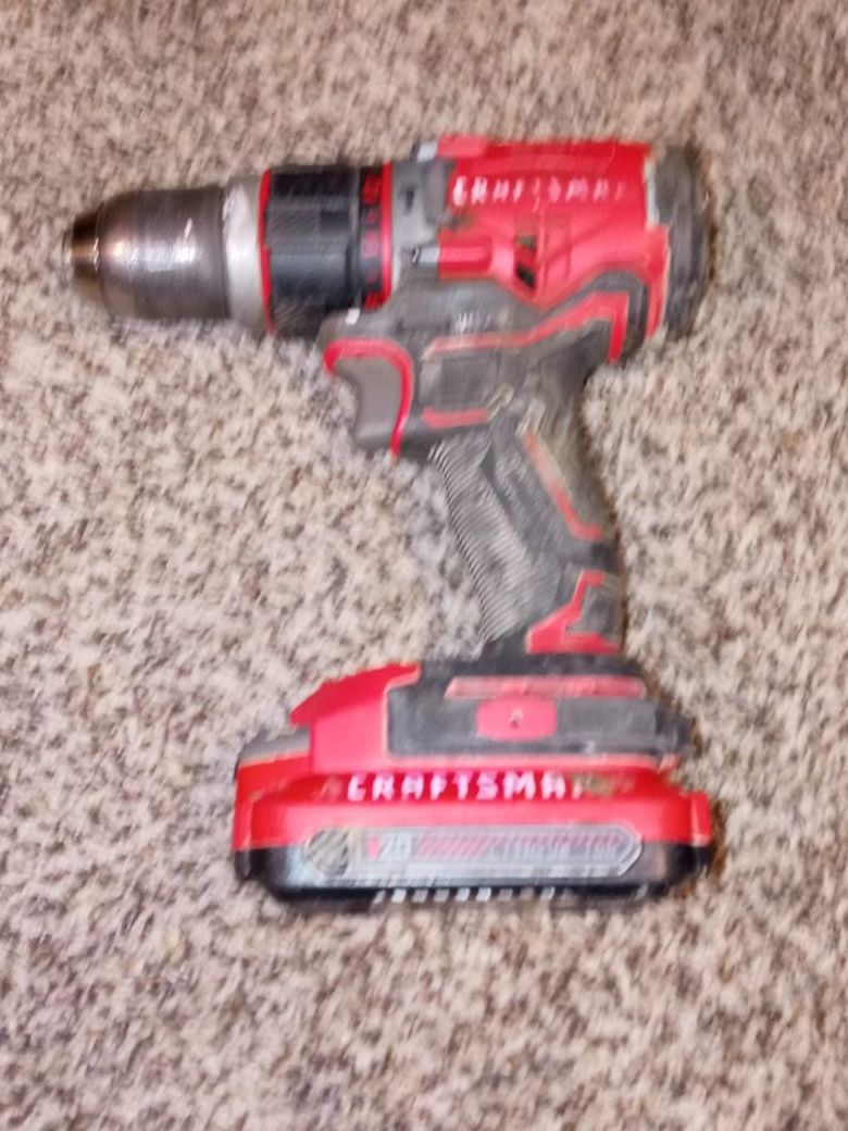 Craftsman Hammer Drill and 20v Battery