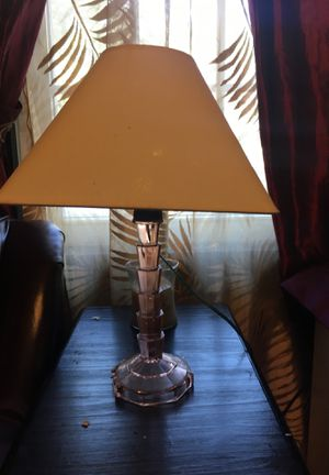 Pink depression lamp for Sale in Allentown, PA