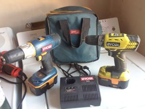 2x Ryobi 18v drills and charger for Sale in Las Vegas, NV