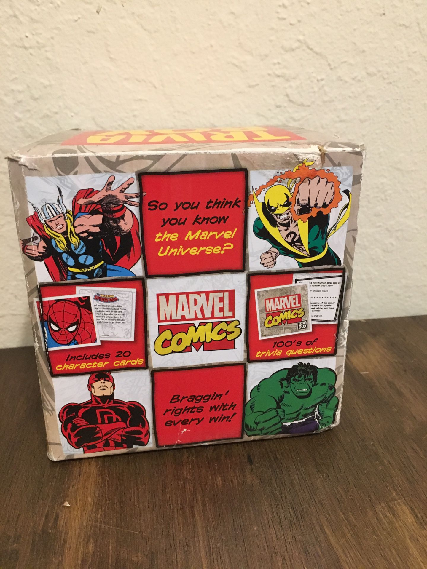 Marvel trivia card game