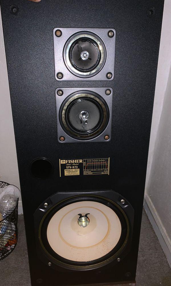 Fisher stv 873 speakers