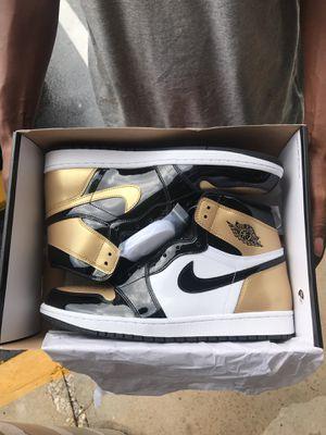Air Jordan 1 gold toes for Sale in Tampa, FL