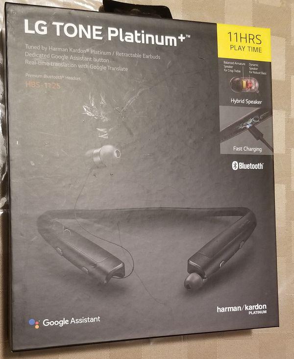 c0c9b79a72e NEW LG TONE PLATINUM+ Plus Bluetooth Headset Black HBS-1125 SEALED Harman  Kardon