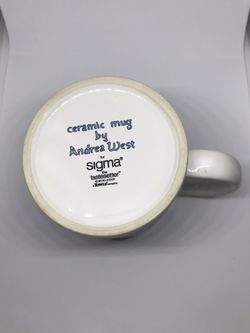 Andrea West Sigma Tastesetter Ceramic Coffee Tea Cup Collection Goose flying Over Farm Thumbnail