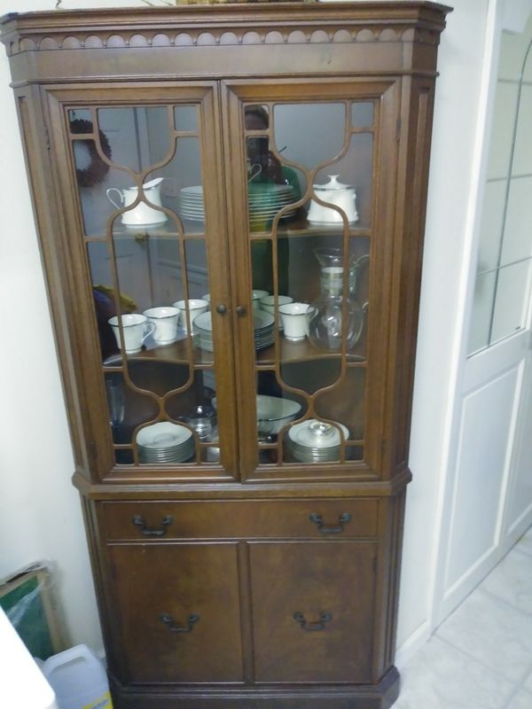 Cherry Corner China Cabinet Ideal For Box Nacs And Fine Great Condition Furniture In North Myrtle Beach Sc Offerup