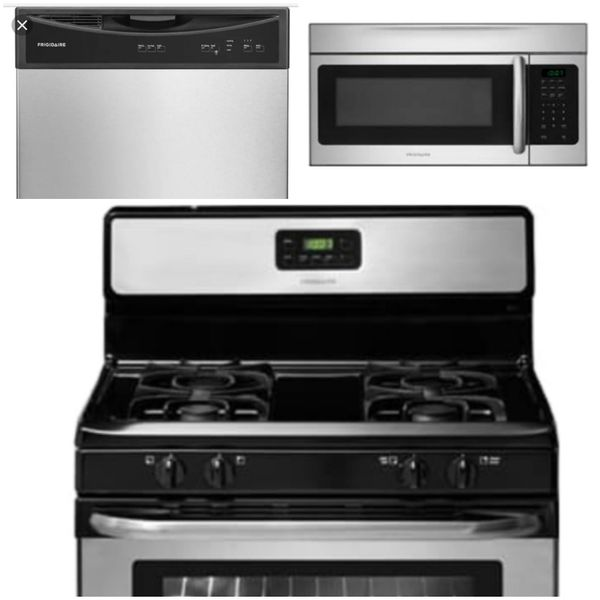 Appliance Package - Gas Stove/Range, Microwave, Dishwasher for Sale ...