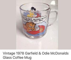 Vintage Garfield McDonalds 1978 Glass Mug for Sale in Olney, MD