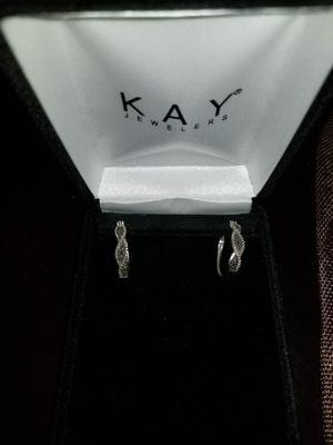 Diamond Hoop Earrings for Sale in Winter Garden, FL