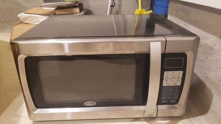 Oyster Stainless Steel Microwave Thumbnail