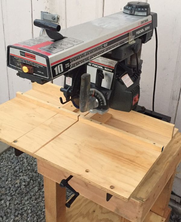 Original Sears Craftsman Radial Arm Saw With New Custom