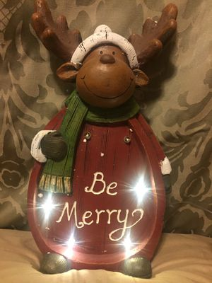 Battery powered wooden Holiday moose/deer for Sale in Rockville, MD