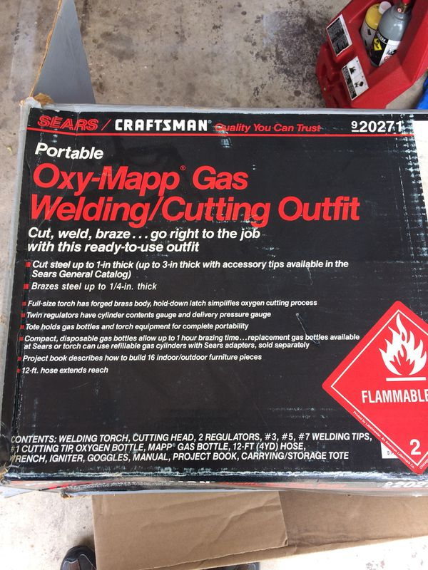 Craftsman Oxy-Mapp Gas Welding/Cutting Outfit for Sale in Wheaton, IL -  OfferUp