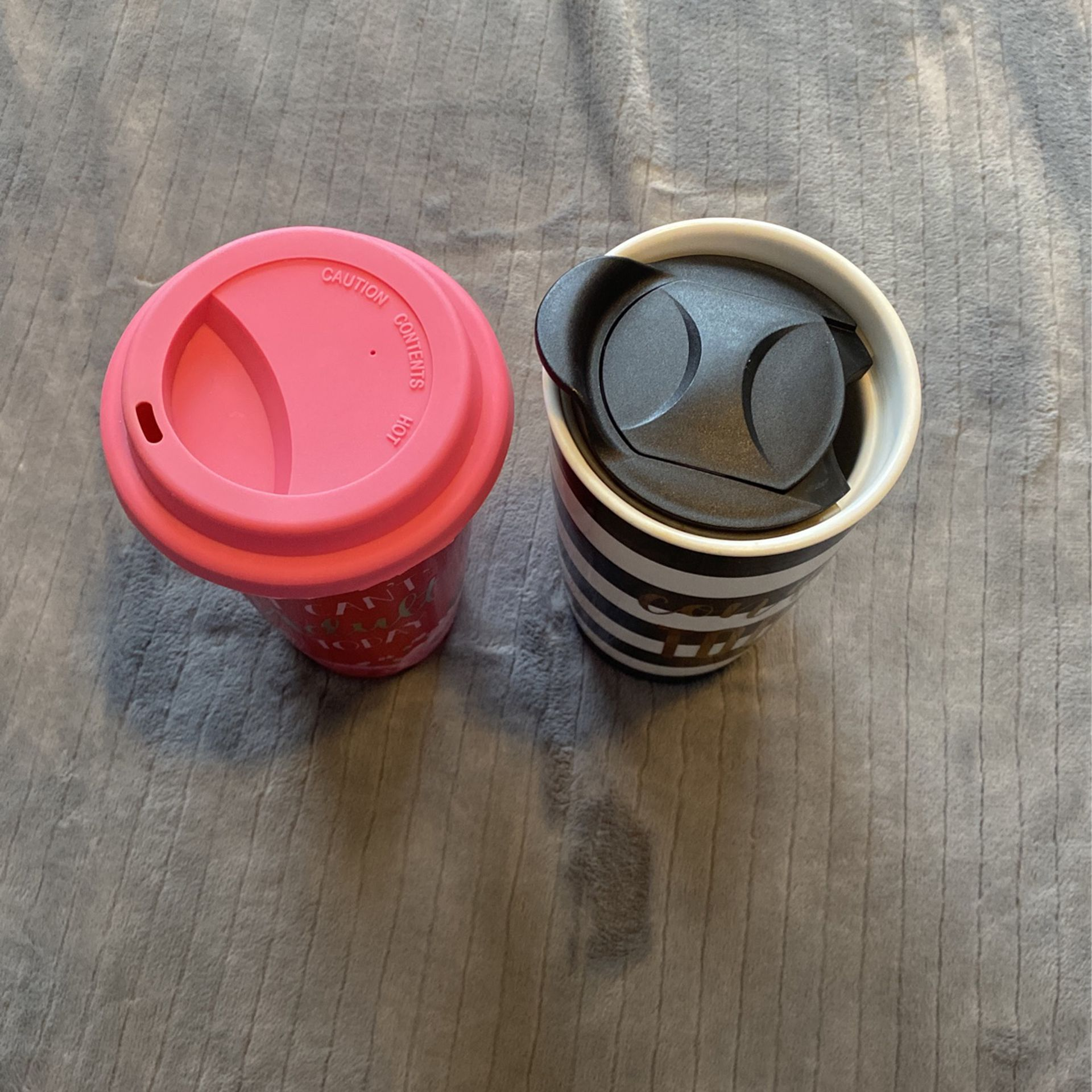 Travel Coffee Mugs Ceramic Novelty Set Of 2