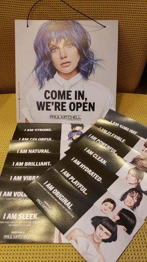 Paul Mitchell Open/Closed Sign + Shelf Talkers for Sale in Arlington, VA