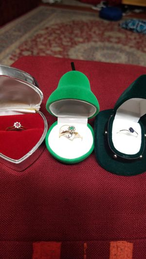 GOLD AND DAIMOND RINGS TRIO for Sale in Springfield, VA