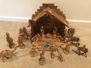 Olive wood nativity set for Sale in Herndon, VA