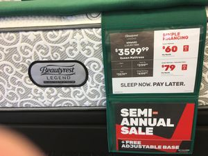 Photo Beautyrest Luxury Mattress floor model on sale. Half off at Mattress Firm in South Park. Please call Jim at {contact info removed}.