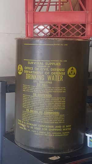 1960s Department of Civil Defense drinking water container for Sale in Raleigh, NC