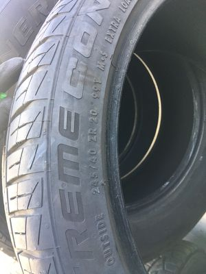 245/40/20 tires PRETTY MUCH BRSND NEW HAVE 90 percent thread for Sale in Denver, CO