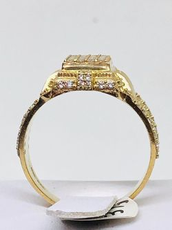 10Kt Real Gold Ring with CZs at sale Thumbnail