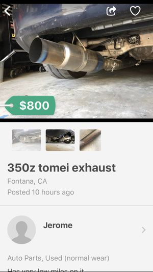 350z tomei exhaust for Sale in Fontana, CA - OfferUp