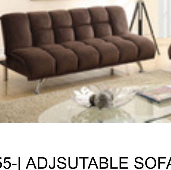 Sale Brand New Chocolate Brown Futon Or Adjustable Sofa For Sale