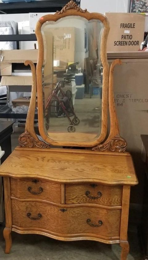Antique Quarter Sawn Oak Vanity Delivery Available For