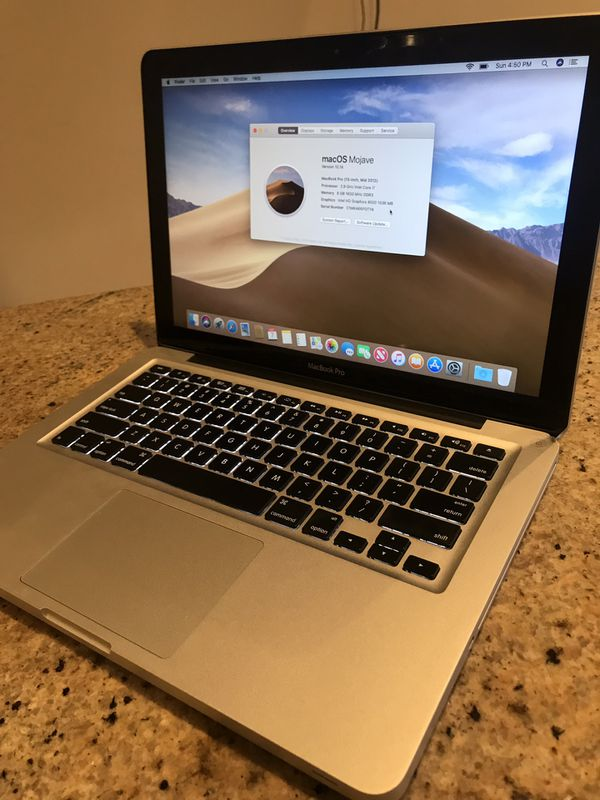 MacBook Pro 13 inch OS X Mojave i5 processor 1 terabyte hard